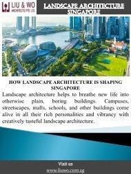 Landscape Architecture Singapore