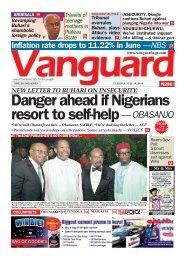 16072019 - Danger ahead if Nigerians resort to self-help Obasanjo