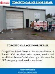 Toronto Garage Door Repair