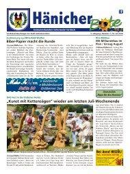 Hänicher Bote | Juli-Ausgabe 2018