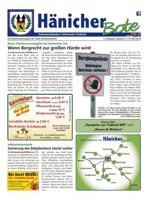 Hänicher Bote | Mai-Ausgabe 2018