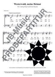 Westerwald, meine Heimat (für Männerchor TTBB, Frauenchor SSA und Gemischten Chor SATB)