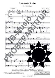 Sterne der Liebe (für Tenor-, bzw. Sopran-Solostimme m. Klavierbegl. oder Chor TTBB, SATB