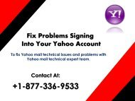 Fix problems Signing into Your Yahoo Mail Account