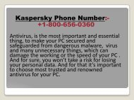 Quick and Secure Solution of Your Kaspersky Issues with Kaspersky Phone Number