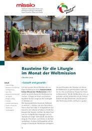 Bausteine für die Liturgie im Monat der Weltmission 2019