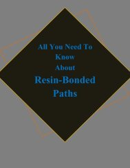 All You Need To Know About Resin-Bonded Paths