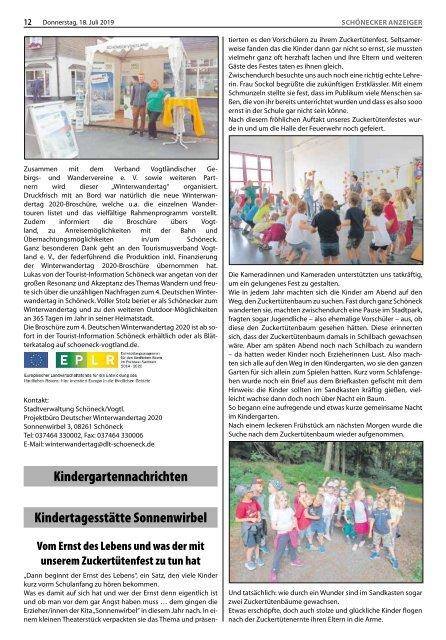 Schönecker Anzeiger Juli 2019