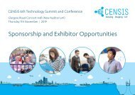 6th CENSIS Tech summit 2019_Sponsorship Exhibitor Opportunities