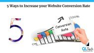 5 Ways to increase your Website Conversion rate