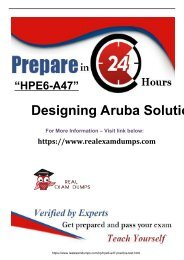 Download Exact HP HPE6-A47 Exam Study Guide - HP HPE6-A47 Exam Dumps