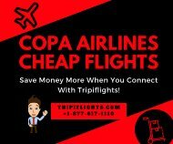 Copa Airlines Cheap Flights - Tripiflights - Copa Airlines Reservations