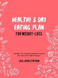 3 Day Eating Plan - Liezl Jayne Strydom