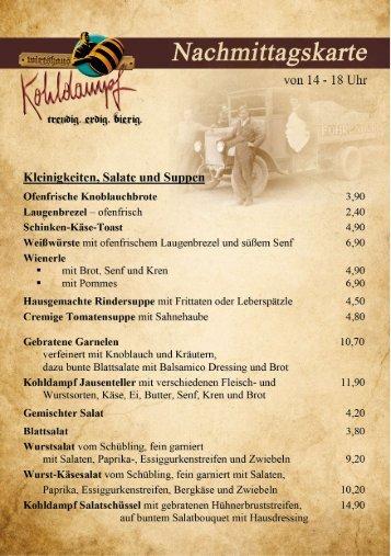 Tageskarte Kohldampf Deutsch V170719