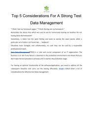 Top 5 Considerations For A Strong Test Data Management
