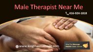 Best Registered Massage Male therapist near Toronto | King Thai Massage