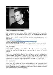 Giới thiệu CV Jonny Alien Manager tại SMS Bóng Đá