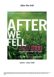 Scaricare Libri After We Fell Gratis Di Anna Todd