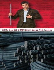 Get the Best 500 D TMT Bars in Bengal from Toptech