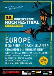 Brienzersee Rockfestival 2019