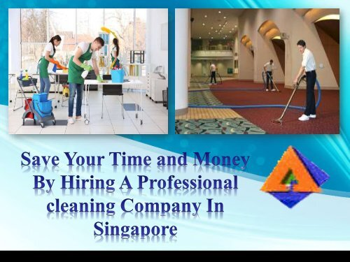 Save Your Time and Money By Hiring A Professional cleaning Company In Singapore