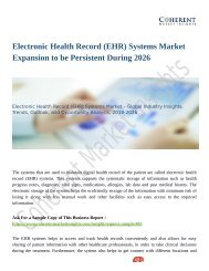 Electronic Health Record (EHR) Systems Market Size & Share to See Modest Growth Through 2026