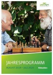 Jahresprogramm Pro Senectute Nidwalden 2019 bis 2020