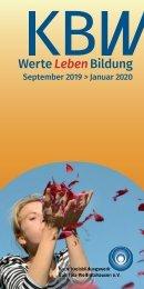 KBW Bad Tölz-Wolfratshausen Programm September 2019 bis Januar 2020