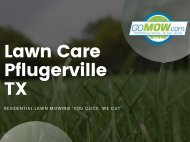 Are you ready for your lawn care in Pflugerville? - GoMow