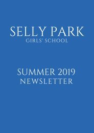 Selly Park Girls' School Newsletter Summer 2019