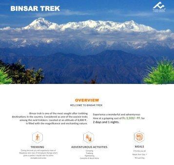 Binasr-trek- Quotation & Itinerary