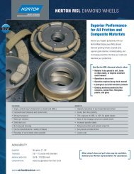 NortoN MSL DiAMoND WhEELS - Norton Industrial Abrasives