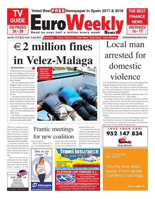Euro Weekly News - Axarquia 18 - 24 July 2019 Issue 1776