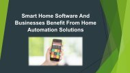 What is smart home software? How do businesses benefit from home automation solutions?