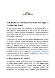 Slate Restoration Melbourne Remodel And Replace The Damaged Roofs