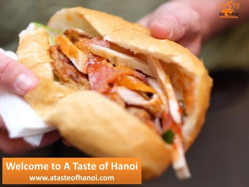 Welcome to A Taste of Hanoi