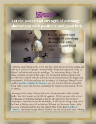 Let the power and strength of astrology shower you with positivity and good luck