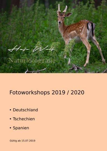 Fotoworkshops 2019 / 2020