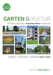 Garten & Kultur 2019 I 2020 • Reisekatalog  Juni bis September