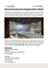 Best Commercial Interior Designers Delhi-Resaiki