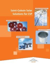 Saint-Gobain Solar Solutions for Concentrated Solar Power (CSP)