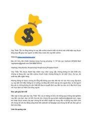 Vay Thần Tốc Cổng thông tin vay tiền online nhanh nhất uy tín nhất