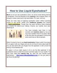 Best Liquid Eyeshadow Manufacturers