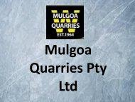 Excavation Contractors in Sydney - Mulgoa Quarries