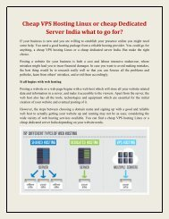 Cheap VPS Hosting Linux or cheap Dedicated Server India what to go for ?