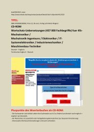 englisch uebersetzen: Woerterbuch Metalltechnik Fertigungstechnik