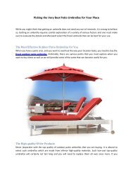 Picking the Very Best Patio Umbrellas for Your Place