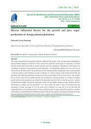 Diverse influential factors for the growth and juice sugar production of Arenga pinnata plantation
