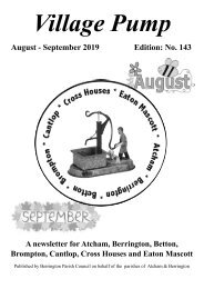 Berrington Village Pump Edition 143 Aug - Sep 2019