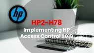 HP2-H78 Dumps Questions